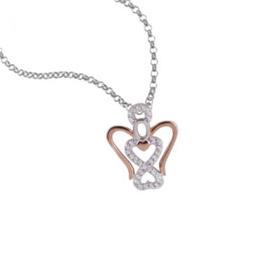 collana argento 925 rose'...