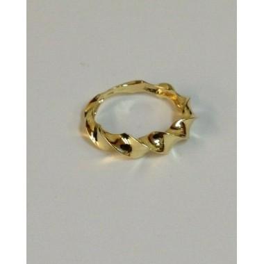 anello oro giallo 18 kt 750% misura 13 ondulata